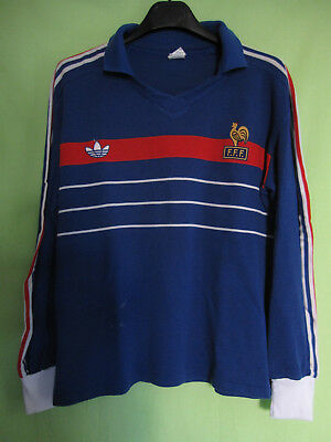 MAILLOT EQUIPE FRANCE 1984 Adidas Porté #17 Football Jersey