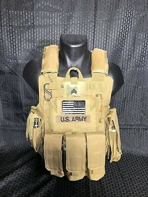 Tactical Vest COYOTE Tan Plate Carrier BODY ARMOR Military Matches Multicam 5