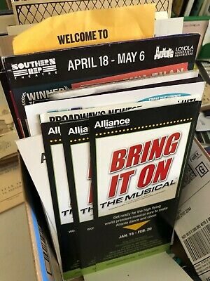 Broadway/Theatre Flyers Mailers Brochures / Free U.S. Shipping!  Bulk discounts! 5