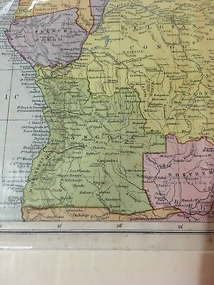 George Philip & Son Ltd Map Of Central Africa The London Geographical Institute