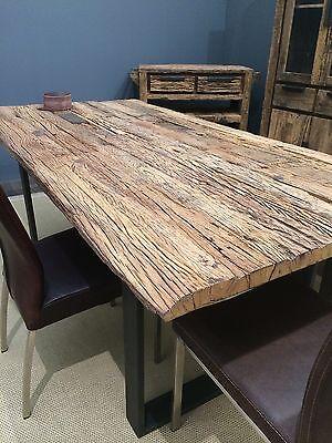 Esstisch Tisch Thar 200x100cm Altholz Massiv Industrie Design Sit