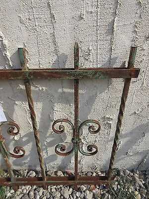 Antique Victorian Iron Gate Window Garden Fence Architectural Salvage #924 4