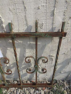 Antique Victorian Iron Gate Window Garden Fence Architectural Salvage #924 4