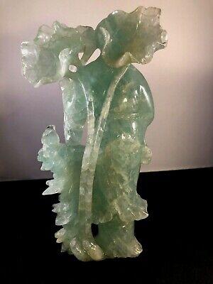 Antique Chinese Green Quartz Figurine 5