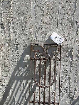 Antique Victorian Iron Gate Window Garden Fence Architectural Salvage Door #396 2