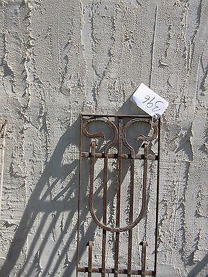 Antique Victorian Iron Gate Window Garden Fence Architectural Salvage Door #396 2