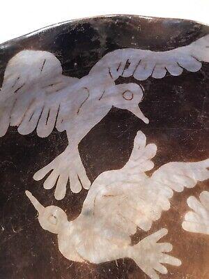 Peru Chulucanas Pottery Bird Bowl Signed S Moncada Precolumbian Technique Vtg 11