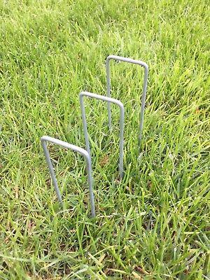Metal Ground Garden Membrane Pins Fabric Hooks Pegs Staples U Pins 6