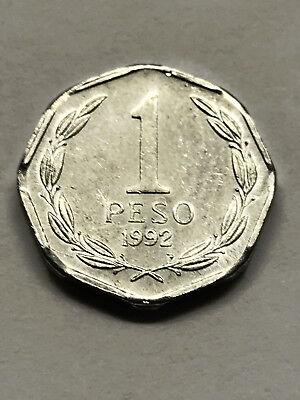 1992 Chile 1 Peso Unc+ #13903