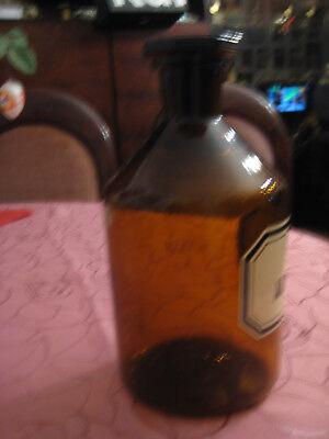 Original alte Apothekerflasche, Braunglas, mit Stopfen 2