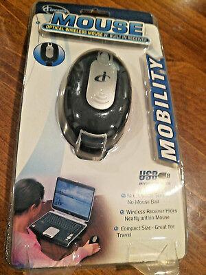 Sakar M05117MB Mobility Black USB Optical Retractable Mouse//USB Hub