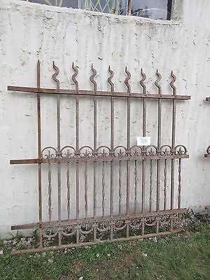 Antique Victorian Iron Gate Window Garden Fence Architectural Salvage Door #708 3