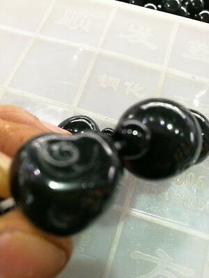 He tian Qingyu bracelet, Natural jade hand jewelry, jade elastic hand string 2