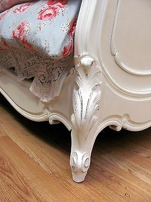 Stunning Antique French Double Rococo Crested Bed - C1920 11