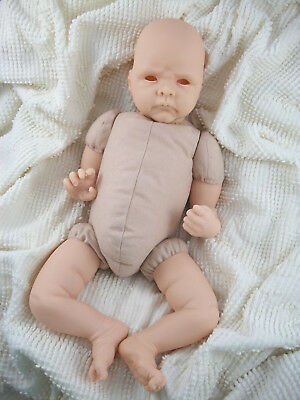 "18"" reborn baby doll body cloth doe suede for 3/4 arms & full jointed legs kits! 5"