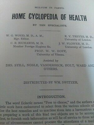 Antique Health Booklet, 1911, multum in Parvo, home cyclopedia of health.32 page 5