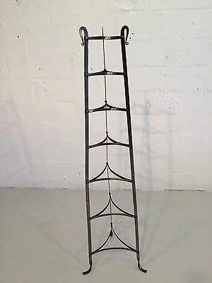 industrial hand-forged plant stand mixing bowl rack shelf 1930s metal 8