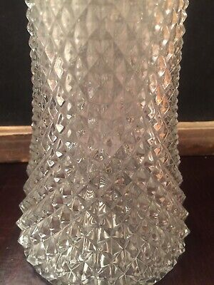 Crystal Carafe Italy Pitcher Decanter Vintage Silverplate Ice Chiller Insert 5