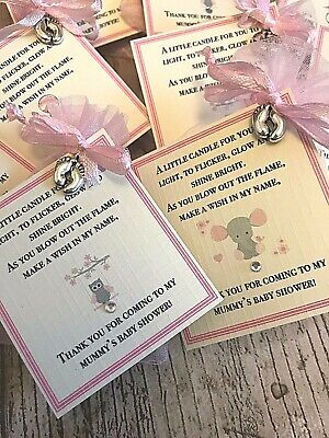 *Baby Shower Favour Candle* 10 pack Gift Cute Baby Girl Pink Elephant Owl 3