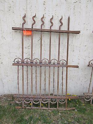 Antique Victorian Iron Gate Window Garden Fence Architectural Salvage Door #315 6