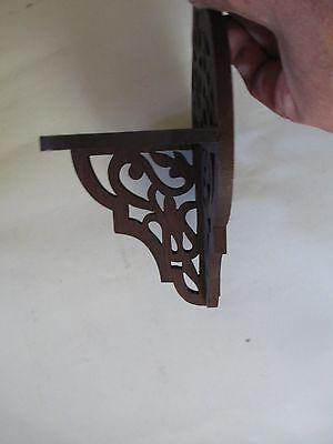 WALNUT WOOD antique SHELF pierced design VICTORIAN Nautical Motif 1800s preowned 3