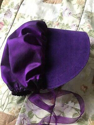 """Regency/Victorian Style Bonnet """"Jane Austen"""" Velvet Brim HANDMADE 4"""