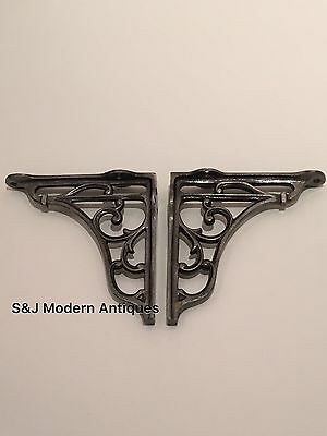 Antique Vintage Shelf Bracket Cast Iron Metal Victorian Design Heavy Duty 5 Inch 10 • £13.95