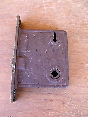 Vintage Hardware Mortise Lock  Brass Latch Plate Use Repair or Parts Re-Purpose 5