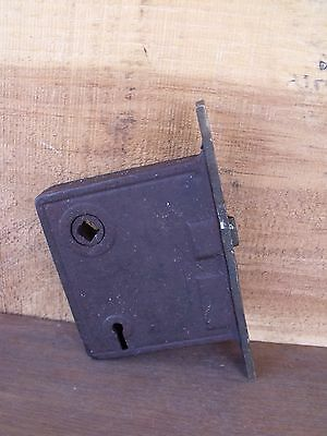 Vintage Hardware Mortise Lock  Brass Latch Plate Use Repair or Parts Re-Purpose 8
