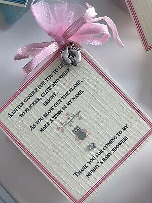 *Baby Shower Favour Candle* 10 pack Gift Cute Baby Girl Pink Elephant Owl 11