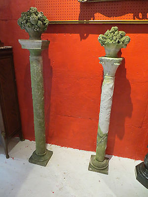 Two Antique Marble and Limestone Garden Columns- From The Godfather III Estate 2