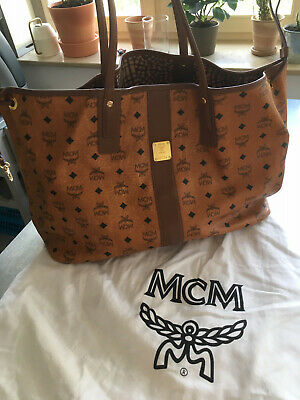MCM TASCHE PROJECT Visetos Reversible Shopper Large Cognac