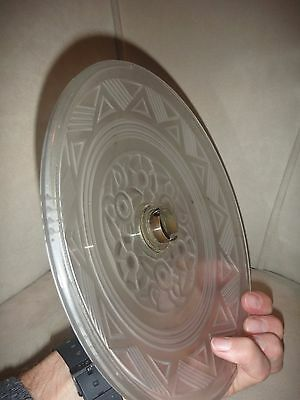 Art Deco Lightshade   Opaque Glass   See Hand For Scale 5