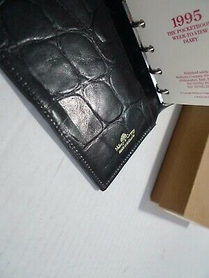 Mulberry-  Pocket Book Leather  Planner- Congo- 1995 New Old Stock --Made In Uk 8