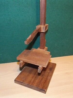 Clock movement test stand from reclaimed hardwood fits most lighter types 5