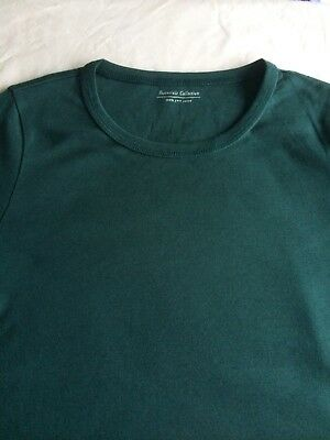 M&S Ladies Long Sleeve Crew Neck T Shirt Pure Cotton,sz 6-24,free postage 5