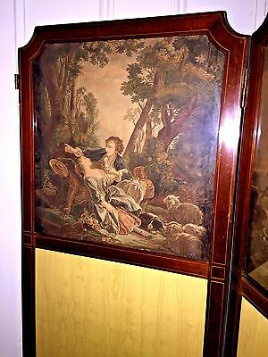 Antique ENGLISH Room Divider SCREEN ~1890s 8