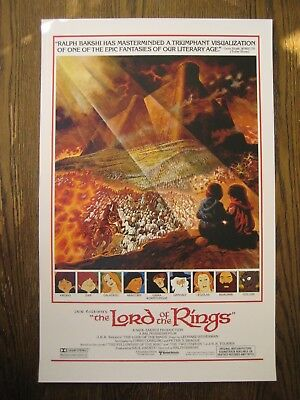 """Lord of the Rings ( 11"""" x 17"""" )  Movie Collector's Poster Prints ( Set of 2 ) 6"""