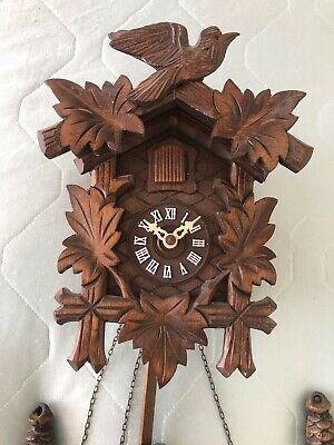 Vintage REGULA Hand Made Wooden Black Forest Cuckoo Clock Made in Germany 3