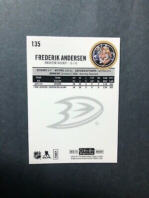 2014-15 OPC Platinum Base Traxx Parallel #135 Fredy Anderson Toronto Maple leafs 2