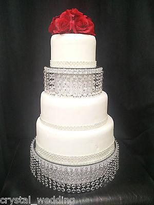 Crystal wedding cake stand & separator set -  round or square 2
