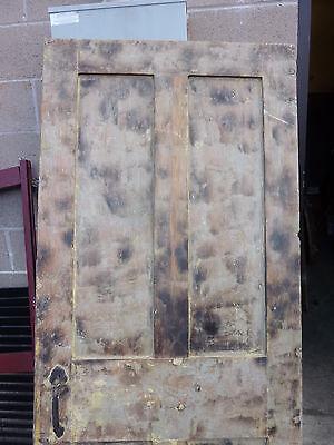 "Early 19th century RAISED panel door w/ SMOKED design decor 76 x 30 x 1 7/16"" 2"