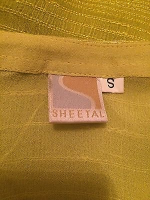 Brand New Ladies Lime Green Designer Indian Shalwar Kameez By SHEETAL Size Small 7