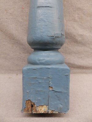 1 Antique Turned Wood Spindle Porch Baluster Thick Old Vtg Architectural 527-17R 3