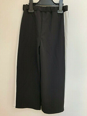 Ex RIVER ISLAND BLACK STRETCHY TROUSERS AND WHITE STRIPE FOR GIRLS AGE 5-6 YEARS 2
