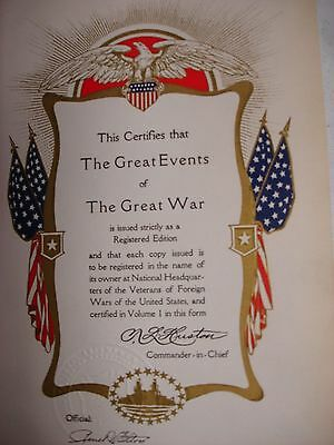 1923 Great Events of the Great War - 7 Volumes 4
