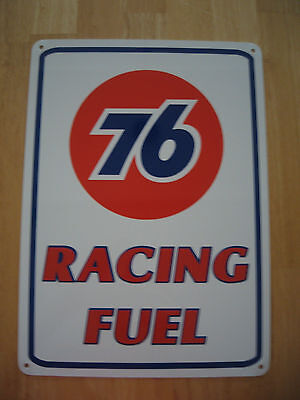 UNION 76 Racing Fuel Gas Pump SIGN Service Station unicol oil Ad Logo Free Ship 3