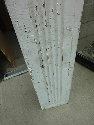 "SQUARE fluted TAPERED victorian POST pier COLUMN 61"" x 9 x 10"" square 5"