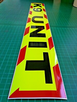 K9 UNIT  MAGNET DOG HANDLER MAGNETIC SECURITY CHEVRON DAYGLO Sticker 620mm 2
