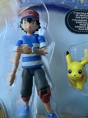 Ash And Pikachu NEW IN BOX 17 Articulations Pokémon Hero Figure; Characters